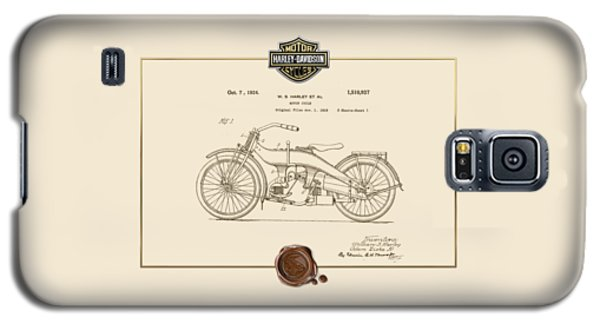 Galaxy S5 Case featuring the digital art Harley-davidson 1924 Vintage Patent Document  by Serge Averbukh