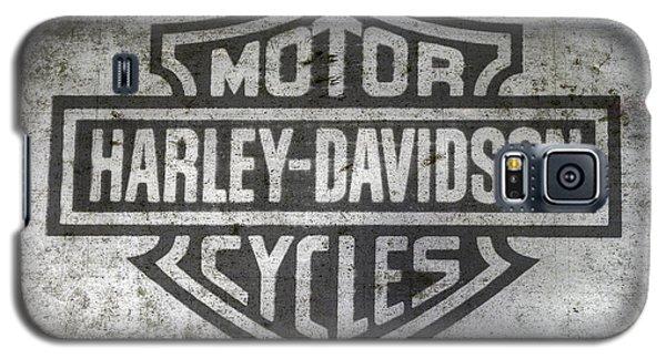 Harley Davidson Logo On Metal Galaxy S5 Case by Randy Steele