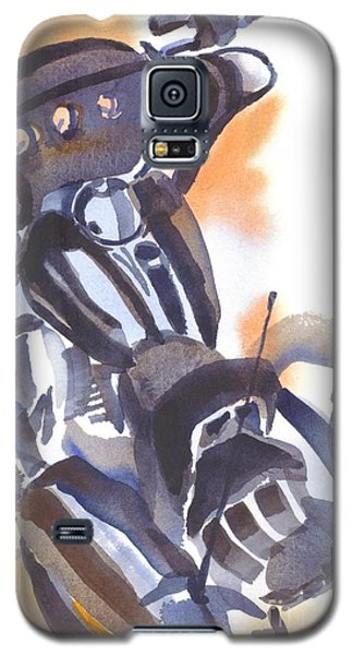 Galaxy S5 Case featuring the painting Motorcycle Iv by Kip DeVore