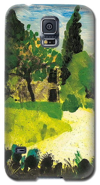 Galaxy S5 Case featuring the painting Harmas Henri Fabre Provence Garden by Martin Stankewitz