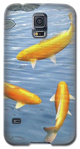 Galaxy S5 Case featuring the photograph Harmony - Golden Koi by Gill Billington