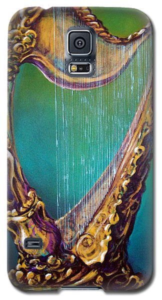 Galaxy S5 Case featuring the painting Harp by Kevin Middleton