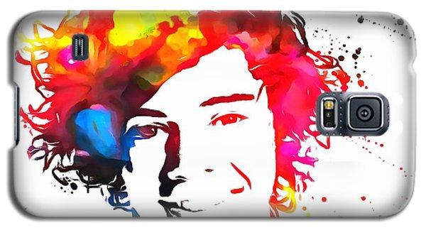 Harry Styles Paint Splatter Galaxy S5 Case by Dan Sproul