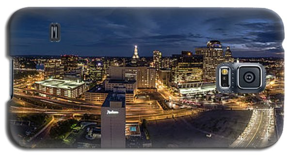 Hartford Ct Night Panorama Galaxy S5 Case by Petr Hejl