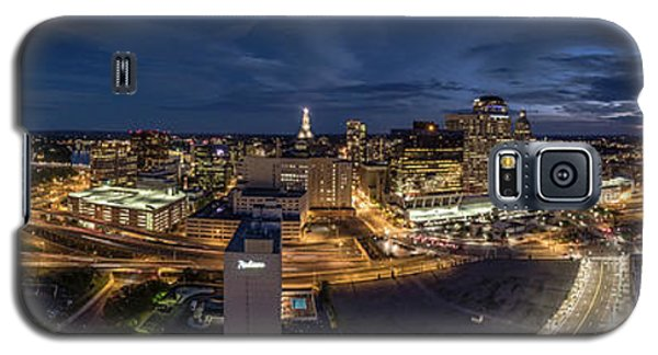 Galaxy S5 Case featuring the photograph Hartford Ct Night Panorama by Petr Hejl