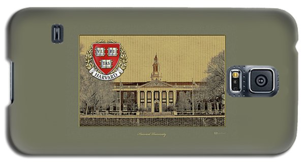 Harvard University Building Overlaid With 3d Coat Of Arms Galaxy S5 Case
