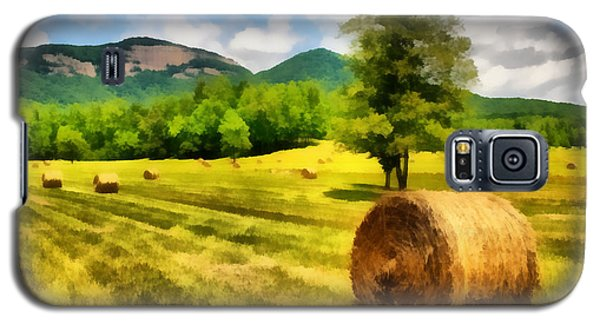 Galaxy S5 Case featuring the painting Harvest At Table Rock by Lynne Jenkins