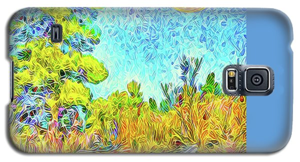 Galaxy S5 Case featuring the digital art Harvest Moon On Crystal Mountain - Boulder County Colorado by Joel Bruce Wallach
