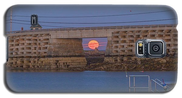 Harvest Moon Over Harpswell Galaxy S5 Case