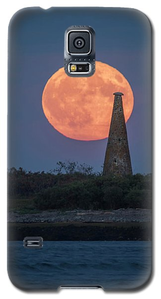 Harvest Moon Over Stage Island, Maine Galaxy S5 Case
