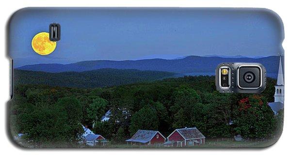 Harvest Moon Over Peacham Vermont Galaxy S5 Case
