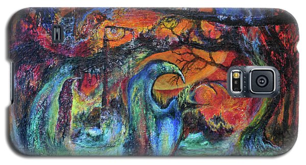 Galaxy S5 Case featuring the painting Harvesters Of The Autumnal Swamp by Christophe Ennis