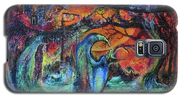 Harvesters Of The Autumnal Swamp Galaxy S5 Case by Christophe Ennis