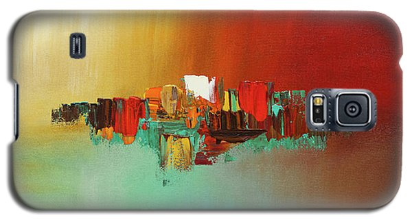 Galaxy S5 Case featuring the painting Hashtag Happy - Abstract Art by Carmen Guedez