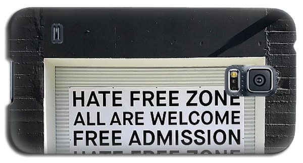 Hate Free Zone Galaxy S5 Case by Julie Gebhardt