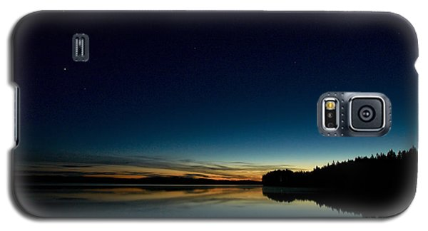 Galaxy S5 Case featuring the photograph Haukkajarvi By Night With Ursa Major 1 by Jouko Lehto