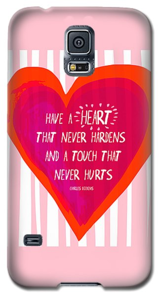 Galaxy S5 Case featuring the painting Have A Heart by Lisa Weedn