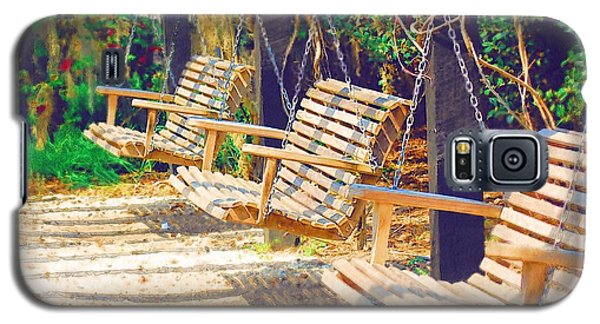 Galaxy S5 Case featuring the photograph Have A Seat Relax by Donna Bentley