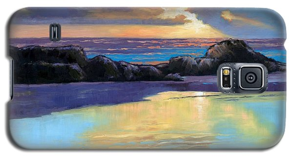 Galaxy S5 Case featuring the painting Havik Beach Sunset by Janet King
