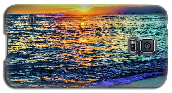 Hawaii Beach Sunset 149 Galaxy S5 Case