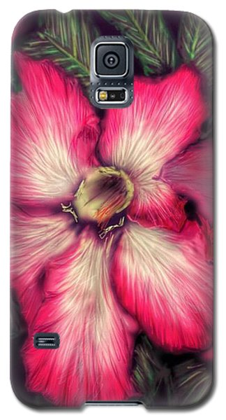Galaxy S5 Case featuring the digital art Hawaii Flower by Darren Cannell
