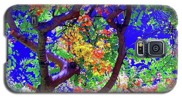 Hawaii Shower Tree Flowers In Abstract Galaxy S5 Case