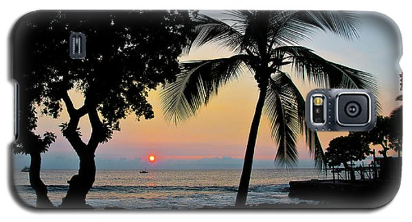 Hawaiian Big Island Sunset  Kailua Kona  Big Island  Hawaii Galaxy S5 Case by Michael Bessler
