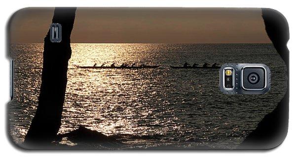 Hawaiian Dugout Canoe Race At Sunset Galaxy S5 Case