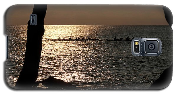 Hawaiian Dugout Canoe Race At Sunset Galaxy S5 Case