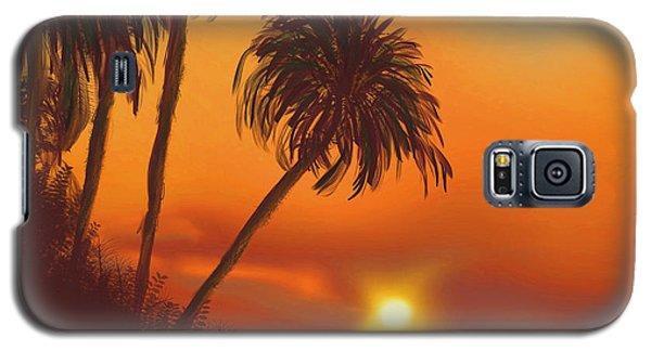Hawaiian Sunset Galaxy S5 Case