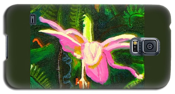 Galaxy S5 Case featuring the painting Hawaiian Wildflower by Angela Annas