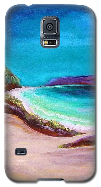 Galaxy S5 Case featuring the painting Hawaiin Blue by Patricia Piffath