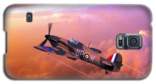 Galaxy S5 Case featuring the digital art Hawker Hurricane British Fighter by John Wills