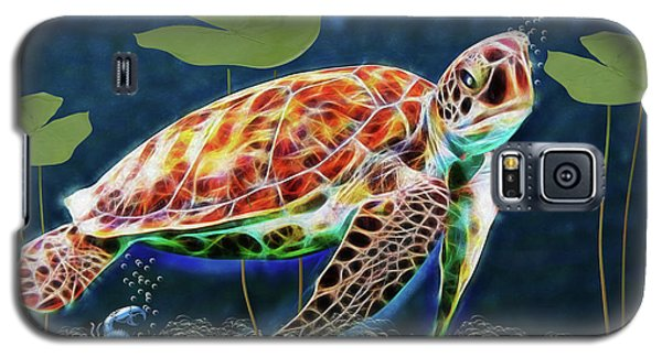 Galaxy S5 Case featuring the digital art Hawksbill Sea Turtle by Ericamaxine Price