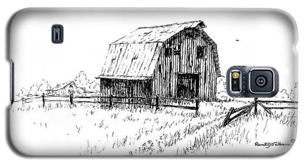 Hay Barn With Broken Gate Galaxy S5 Case
