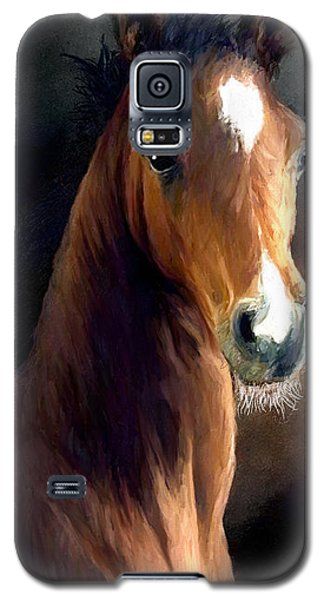 Galaxy S5 Case featuring the painting Hay Dude by James Shepherd