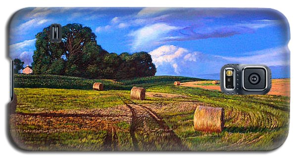 Hay Rolls On The Farm By Christopher Shellhammer Galaxy S5 Case