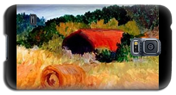 Galaxy S5 Case featuring the painting Hayrolls by Gail Kirtz