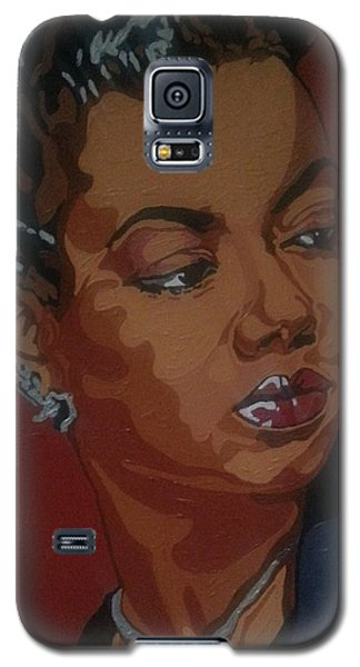 Galaxy S5 Case featuring the painting Hazel Scott by Rachel Natalie Rawlins