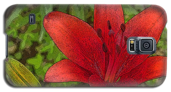 Hazelle's Red Lily Galaxy S5 Case