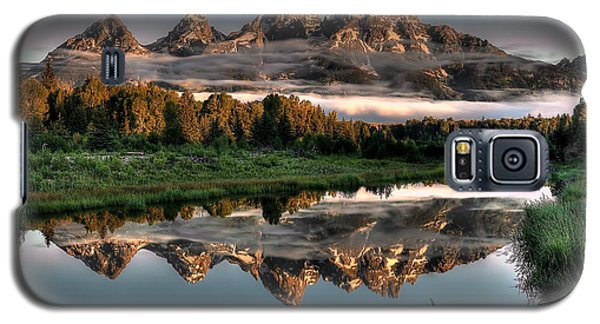 Mountain Galaxy S5 Case - Hazy Reflections At Scwabacher Landing by Ryan Smith
