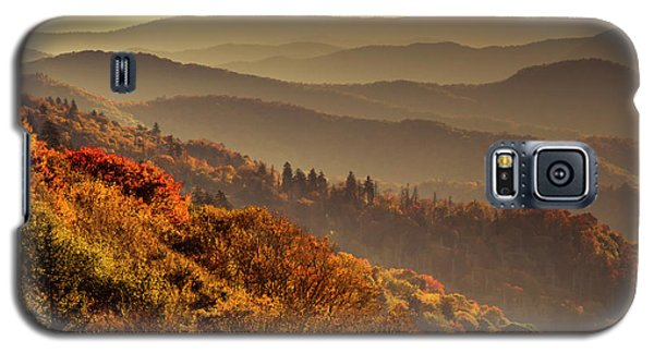 Hazy Sunny Layers In The Smoky Mountains Galaxy S5 Case
