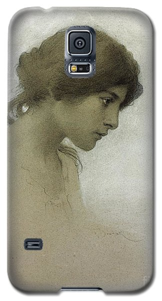 Portraits Galaxy S5 Case - Head Of A Girl  by Franz Dvorak