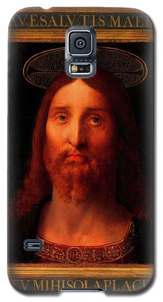 Galaxy S5 Case featuring the painting Head Of Christ                                   by Fernando De La Almedina