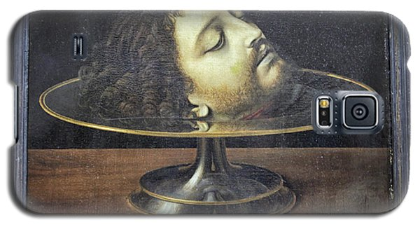 Galaxy S5 Case featuring the photograph Head Of John The Baptist, 1507, With Frame And Inscription -- By by Patricia Hofmeester