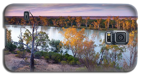 Galaxy S5 Case featuring the photograph Heading Cliffs Murray River South Australia by Bill Robinson