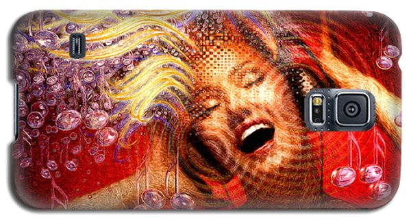 Galaxy S5 Case featuring the painting Headphones by Robby Donaghey