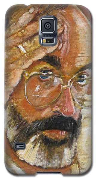 Galaxy S5 Case featuring the painting Headshot by Gary Coleman