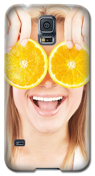 Health Care Conceptual Portrait Happy Laughing Girl Galaxy S5 Case