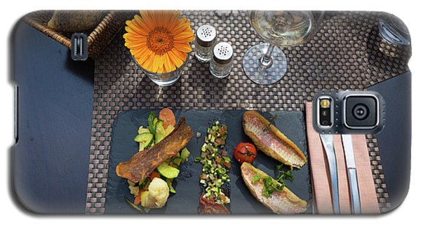 Galaxy S5 Case featuring the photograph Health Fish Dish Served At A French Restaurant by Semmick Photo